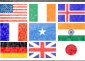 Flags of countries of users